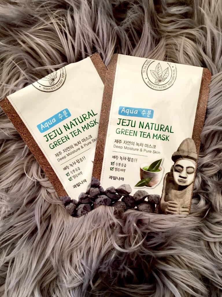 Welcos Kwailnara JeuJi Natural Mask Green Tea  Sheet Face Masks.jpg